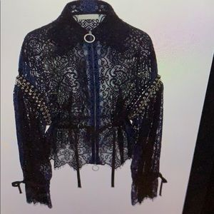 Johnathan Simkhai Lariat lace one of kind new